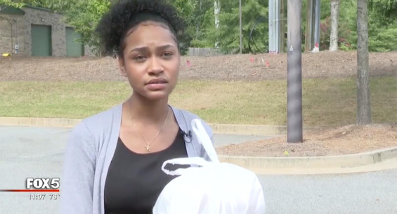 Georgia woman Nyjah Vest, pictured, received a receipt from a Mexican restaurant with a racial slur on it.
