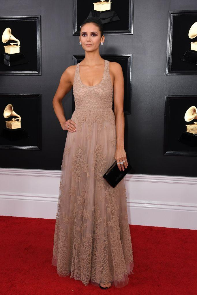 <p>Nina Dobrev attends the 61st annual Grammy Awards at Staples Center on Feb. 10, 2019, in Los Angeles. </p>