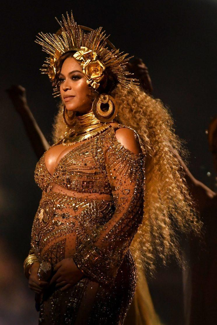 <i>Beyonce's Roberto Cavalli design appeared to feature her own face [Photo: Getty]</i>