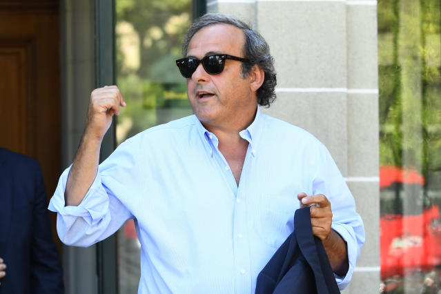 Michel Platini (Photo by ALAIN GROSCLAUDE / AFP)