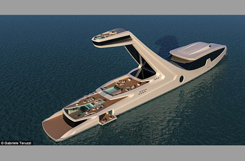 Ready For A Buyer 492 Foot Superyacht Has Beach Club And Elevated