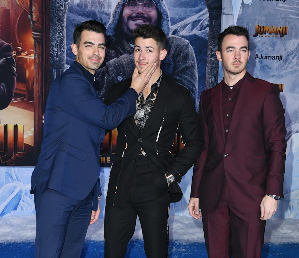 The Jonas Brothers at the Hollywood event. [Photo: Getty]