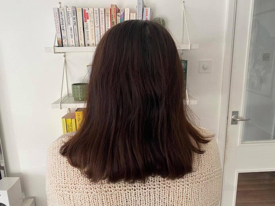Beauty Works Waver review: Annie's hair before using