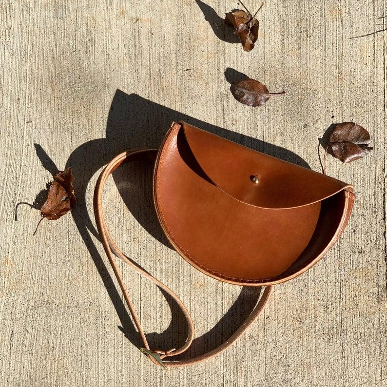 Extended Half Moon Leather Waistbag. Image via Etsy.