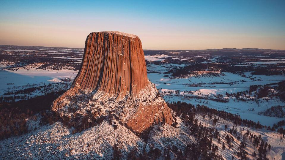 <p>Unbeknownst to most, this rock formation was actually the first official National Landmark within the U.S. The occurrence of the formation of Devil's Tower some 50 million years ago remains something of a mystery due to the lack of similar formations elsewhere in the area. Most scientists hypothesize that it is perhaps the results of underground magma being pushed through tough surface rock to build the tower.</p>