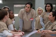 """<p>The women of Litchfield Penitentiary came back for their seventh—and final season—in July 2019, but it's worth revisiting the whole show again. <em>Orange Is the New Black</em> was one of the first Netflix original series to take off, and <a href=""""https://www.glamour.com/story/orange-is-the-new-black-final-season?mbid=synd_yahoo_rss"""" rel=""""nofollow noopener"""" target=""""_blank"""" data-ylk=""""slk:it was praised"""" class=""""link rapid-noclick-resp"""">it was praised</a> for shining a light on women's stories that are rarely seen on screen.</p> <p><a href=""""https://www.netflix.com/title/70242311"""" rel=""""nofollow noopener"""" target=""""_blank"""" data-ylk=""""slk:Available to stream on Netflix"""" class=""""link rapid-noclick-resp""""><em>Available to stream on Netflix</em></a></p>"""