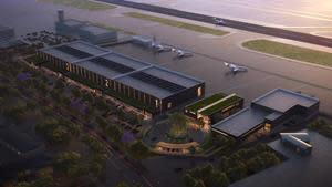 Clay Lacy Aviation development includes aircraft hangars, offices, FBO terminal and OCSD Air Operations Facility.