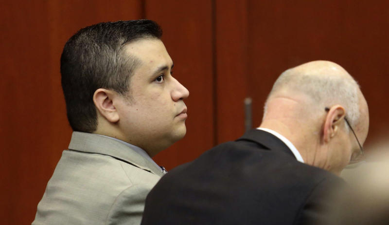 George Zimmerman, left, sits with co-counsel Don West during a hearing in Seminole circuit court, in Sanford, Fla., Thursday, June 6, 2013. A Florida judge has denied a defense request to let a handful of witnesses testify confidentiality during Zimmerman's trial for fatally shooting Trayvon Martin. Zimmerman is pleading not guilty, claiming self-defense. (AP Photo/Orlando Sentinel, Joe Burbank, Pool)