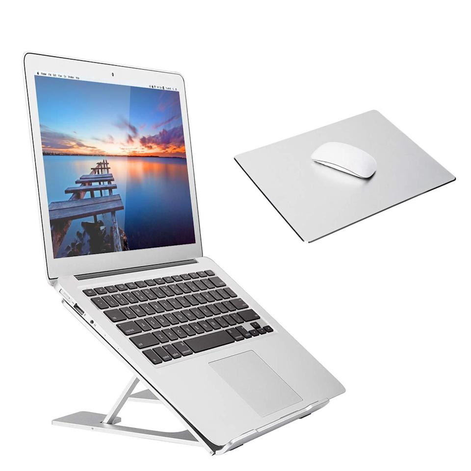 "<h2>Adjustable Laptop Stand</h2><br><br><strong>Coomaxx</strong> Adjustable Laptop Stand, $, available at <a href=""https://amzn.to/310YmEx"" rel=""nofollow noopener"" target=""_blank"" data-ylk=""slk:Amazon"" class=""link rapid-noclick-resp"">Amazon</a>"