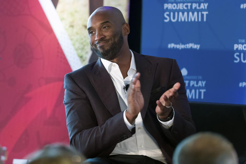 Former NBA basketball all-star Kobe Bryant said in a statement he was honored to have received an invitation to the film festival and was disappointed to see it rescinded. (AP)