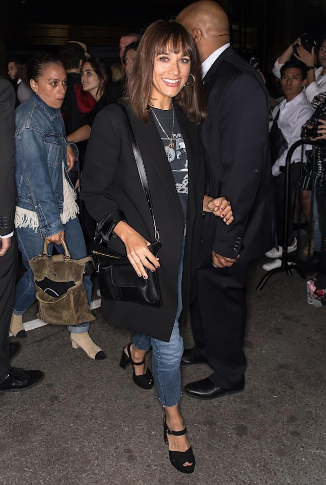 <p>Rashida Jones arrives at Calvin Klein Collection fashion show during New York Fashion Week on September 7, 2017.<br>(Photo by Gilbert Carrasquillo/GC Images) </p>