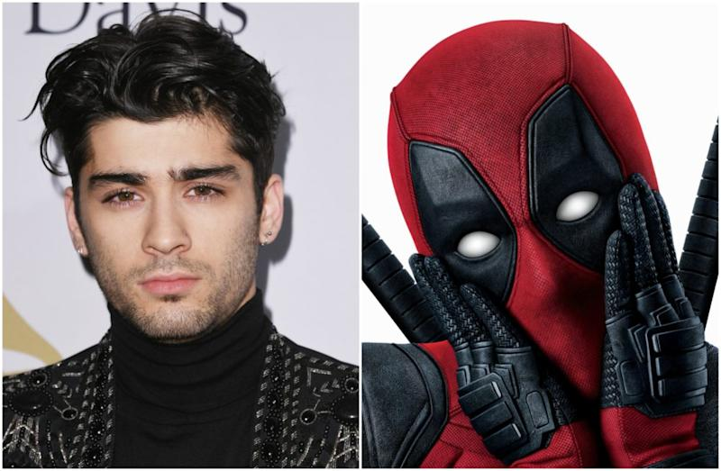 "Ryan Reynolds wished Zayn Malik happy birthday with the creepiest ""Deadpool"" message ever"