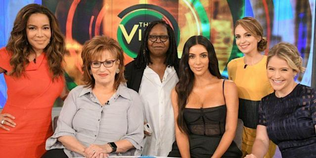 <i>Kim responded to the photos and ensuing criticism on The View [Photo: Getty]</i>