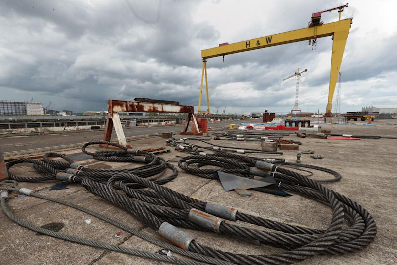 File photo dated 05/08/19 of metal cables in the rig area in front of the Samson crane at the Harland and Wolff shipyard. BDO Northern Ireland, the company's administrators, have said several potential bidders have expressed an interest in buying the crisis-hit Belfast shipyard.
