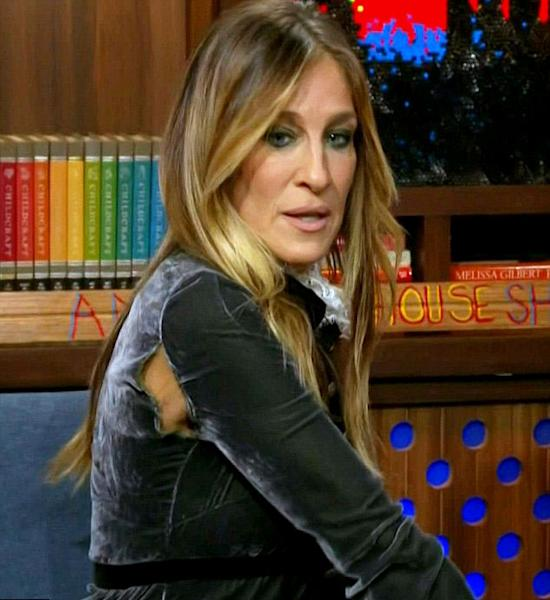 Sarah Jessica Parker had the perfect reaction to a wardrobe malfunction on 'Watch What Happens Live' on Thursday, October 6 — watch it here