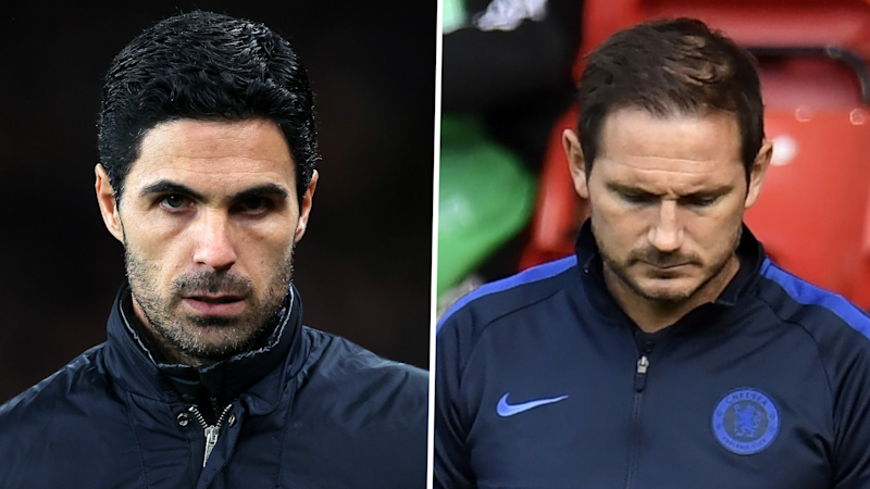 Don't compare Lampard and me to Klopp and Guardiola, warns Arteta