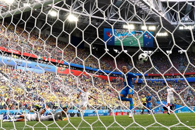 Soccer Football - World Cup - Group E - Brazil vs Costa Rica - Saint Petersburg Stadium, Saint Petersburg, Russia - June 22, 2018 Brazil's Neymar scores their second goal REUTERS/Max Rossi TPX IMAGES OF THE DAY