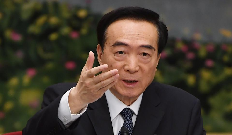Xinjiang's Communist Party boss, Chen Quanguo, could face sanctions under the new US bill. Photo: AFP