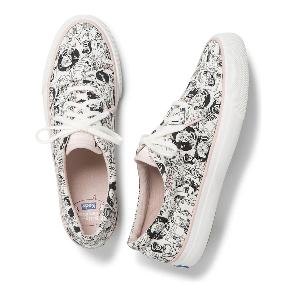 """<h3><a href=""""https://www.keds.com/en/home"""" rel=""""nofollow noopener"""" target=""""_blank"""" data-ylk=""""slk:Keds"""" class=""""link rapid-noclick-resp"""">Keds</a></h3><p><strong>Dates:</strong> Now - September 2<br><strong>Sale:</strong> 20% off all purchases of $50 of more<br><strong>Promo Code:</strong> FRESH20</p><p>The Betty & Veronica comic capsule is mint but, there's oodles of classics too.</p><br><br><strong>Keds</strong> Betty And Veronica Sneaker, $55.95, available at <a href=""""https://www.keds.com/en/keds-x-betty-and-veronica-anchor-comic/38979W.html"""" rel=""""nofollow noopener"""" target=""""_blank"""" data-ylk=""""slk:Keds.com"""" class=""""link rapid-noclick-resp"""">Keds.com</a>"""