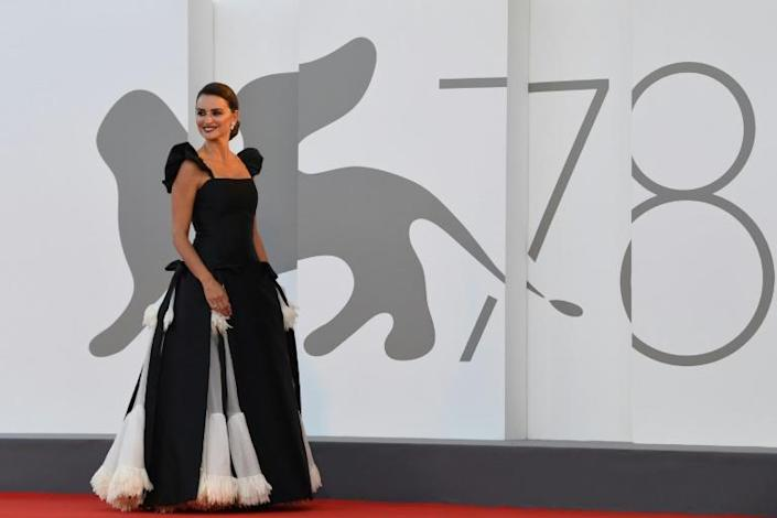 Cruz also starred in the opening film at Venice, Pedro Almodovar's 'Parallel Mothers'. (AFP/Filippo MONTEFORTE)