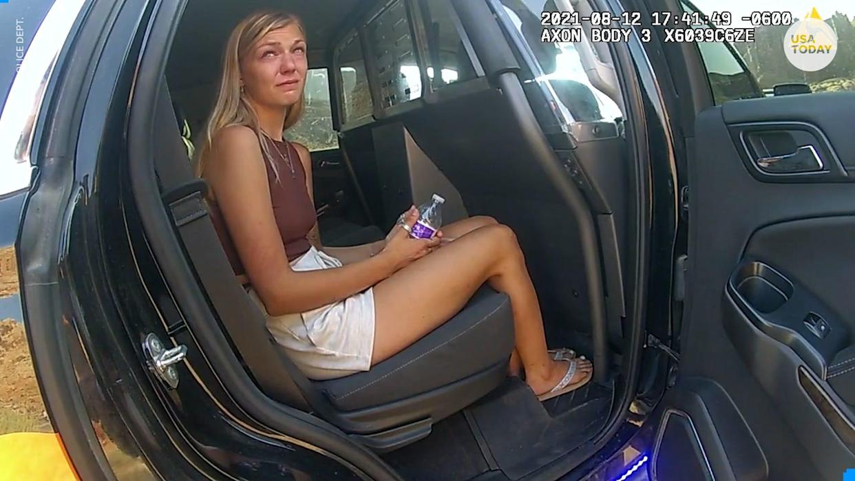 Bodycam footage shows Gabby Petito and her fiancé Brian Laundrie talking to police in Utah after having a fight during their cross-country road trip.