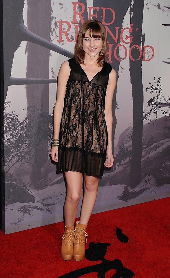 "<a href=""http://movies.yahoo.com/movie/contributor/1808565233"">Haley Ramm</a> at the Los Angeles premiere of <a href=""http://movies.yahoo.com/movie/1810157569/info"">Red Riding Hood</a> on March 7, 2011."