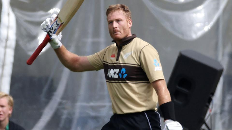 Martin Guptill, pictured here after being dismissed for 97 in the second T20 against Australia.