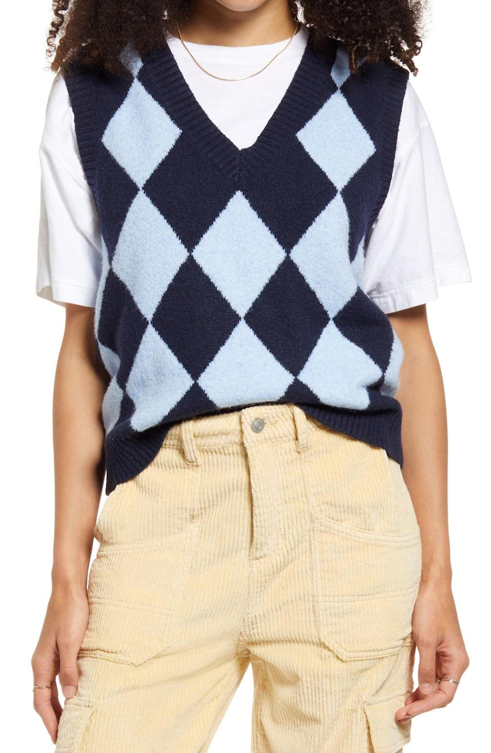 <p>On days when you're running late to class, this <span>BP. Disco Sweater Vest</span> ($39) will instantly make you look put-together. Whether worn on its own or over a long-sleeve shirt, it's the ideal versatile layer. </p>