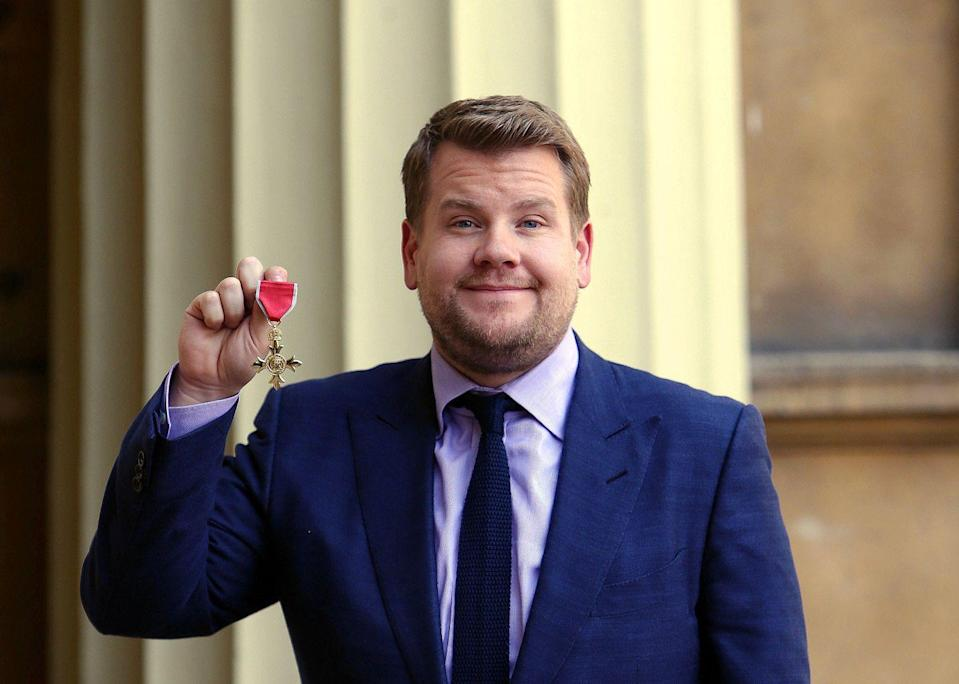 <p>Corden was appointed an Officer of the Order of the British Empire (OBE) for services to drama by Princess Anne in 2015.</p>