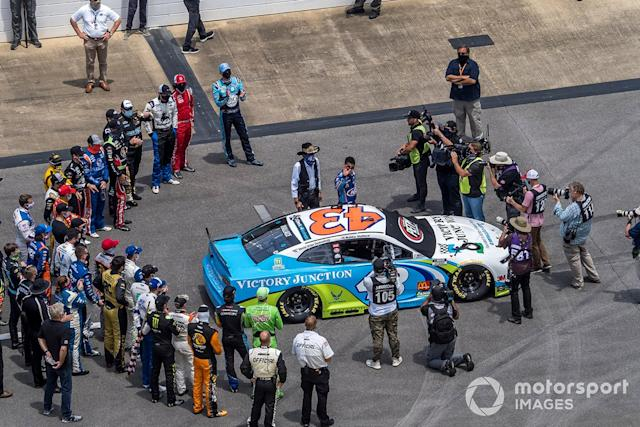 Darrell Wallace Jr., Richard Petty Motorsports honored before the Nascar Cup race