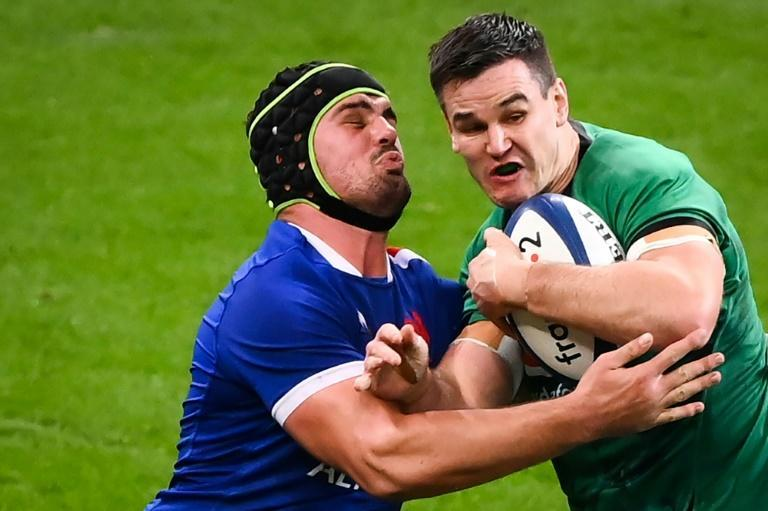 Ireland fly-half Johnny Sexton (right) is set to win his 100th Test cap