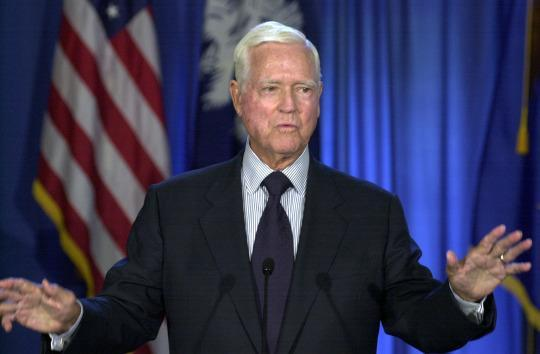 <p><i><b>Better known as:</b> Democratic Sen. Fritz Hollings. (Photo: Mary Ann Chastain/AP)</i></p>