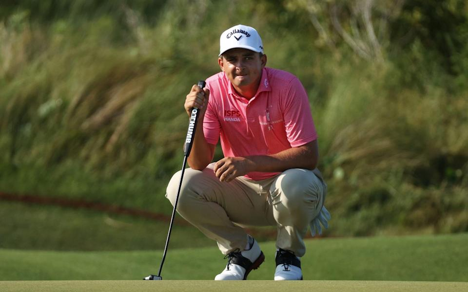 Christiaan Bezuidenhout of South Africa lines up a putt on the second green during the second round of the 2021 PGA Championship at Kiawah Island - Gregory Shamus/Getty Images