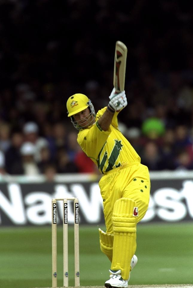 20 Jun 1999:  Ricky Ponting of Australia on his way to 24 in the Cricket World Cup Final against Pakistan at Lord's in London. Australia won by 8 wickets. \ Mandatory Credit: Clive Mason /Allsport
