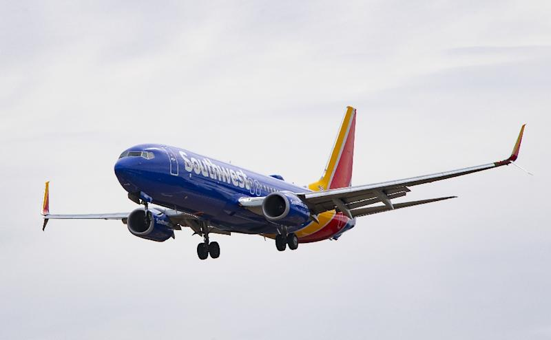 A Boeing 737 Max 8 flown by Southwest Airlines approaches for landing at Baltimore Washington International Airport near Baltimore, Maryland on March 11, 2019