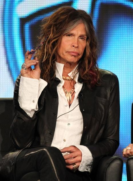 Steven Tyler speaks during the 'American Idol' panel during the FOX Broadcasting Company portion of the 2012 Winter TCA Tour at The Langham Huntington Hotel and Spa, Pasadena, on January 8, 2012  -- Getty Images