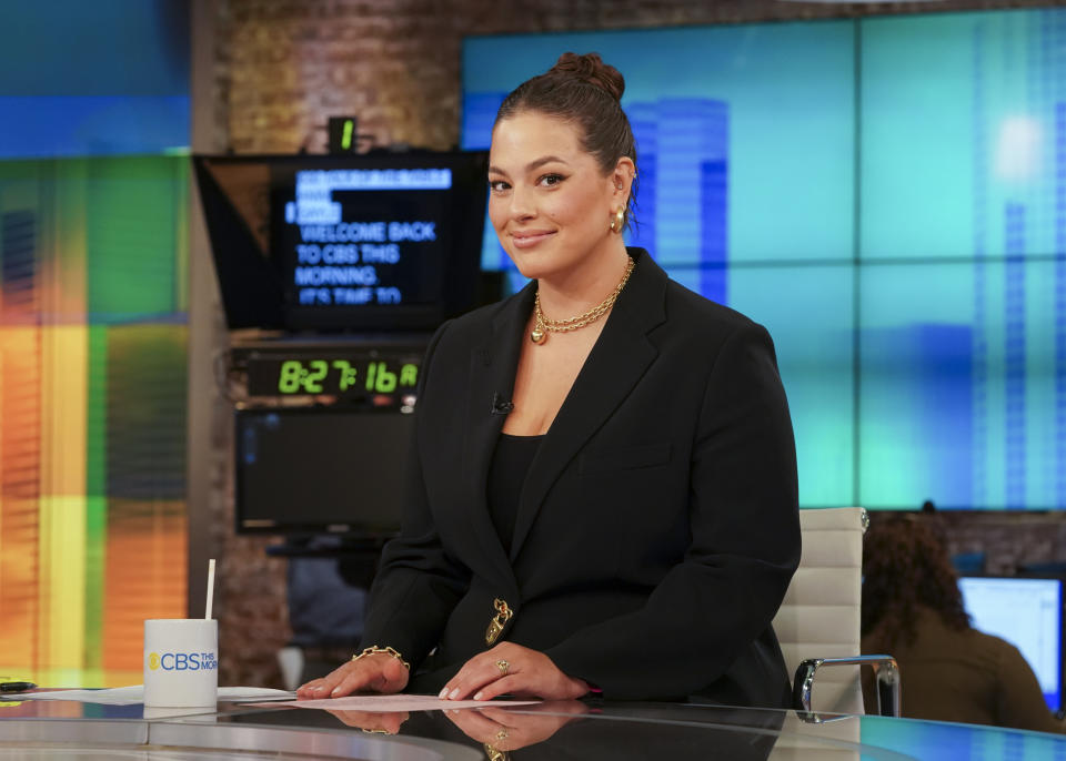 NEW YORK - MAY 25: Enrique Acevedo and Ashley Graham Guest Hosts on CBS This Morning along side Co-Hosts Gayle King and Anthony Mason while Tony Dokoupil is on Parental leave. Dave Grohl joins as in-studio guest. Pictured: Ashley Graham. (Photo by Gail Schulman/CBS via Getty Images)