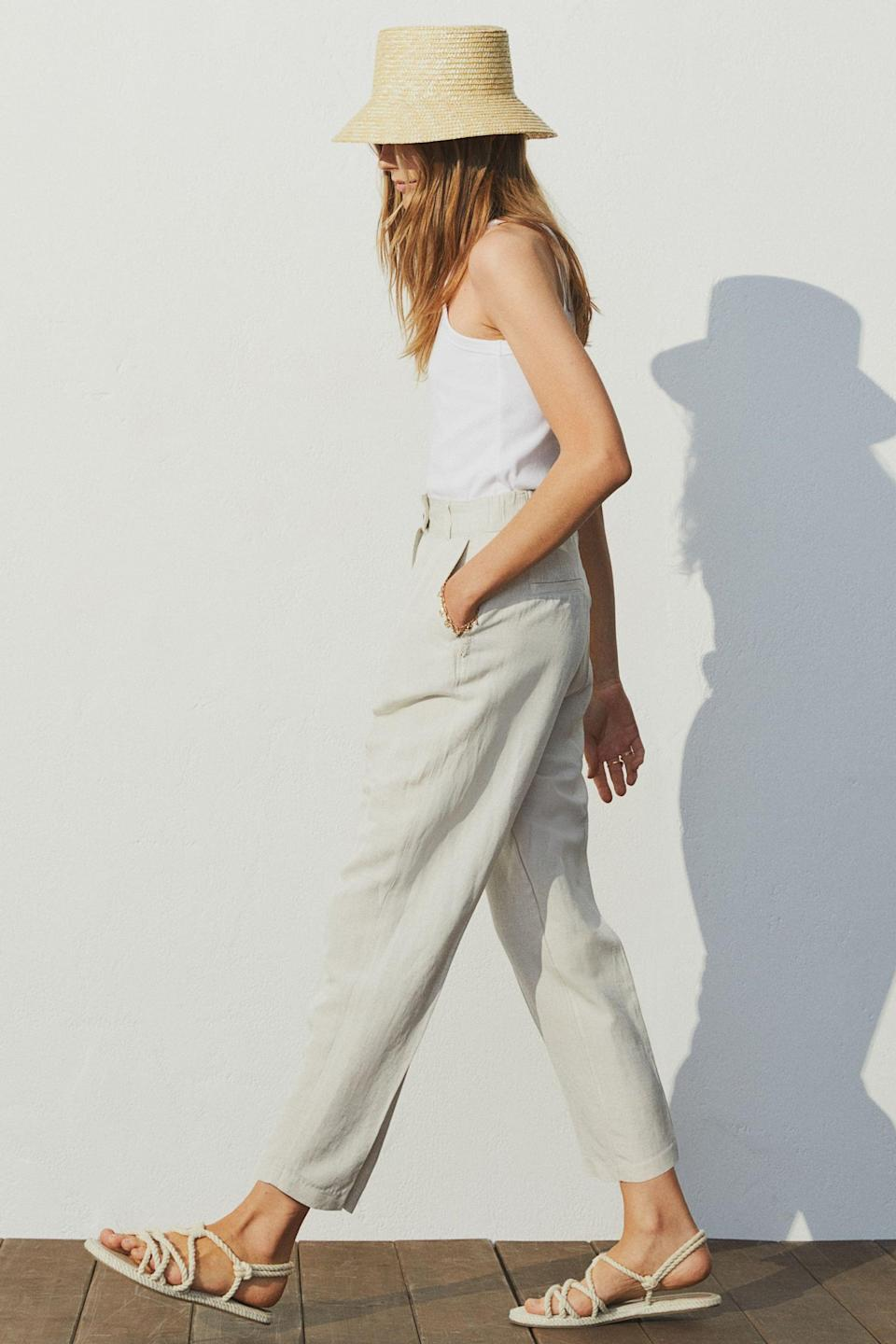 <p>Stay cool in these lightweight <span>H&amp;M Linen-blend Pants</span> ($35).</p>
