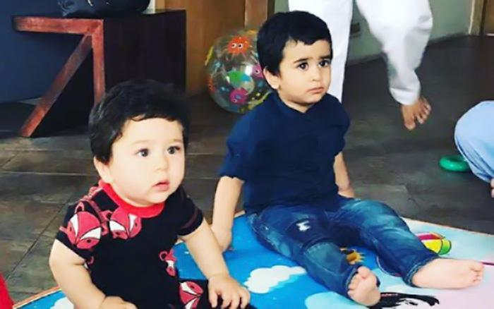 <p>Tusshar Kapoor's son Laksshya Kapoor has found his 'buddy' in Taimur. While he is already a year old, Taimur will turn 1 on December 20, this year. The two are often seen on play dates together. This snap, in particular, was presumably taken at Tusshar's residence. While Taimur looks baffled with what's happening, Laksshya seems clueless, and together they look just too adorable! Taimur and Lakkshya first met at the latter's first birthday party, when mommy Kareena twinned with her son in blue and took him along to attend it. Since then, Kareena and Tusshar have been organising joint play sessions for their children at least once a month. Now, isn't that adorable? </p>