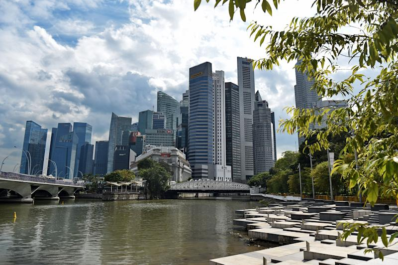 This picture taken on January 2, 2019 shows the skyline of the financial business district in Singapore. (Photo by Roslan RAHMAN / AFP) (Photo credit should read ROSLAN RAHMAN/AFP/Getty Images)