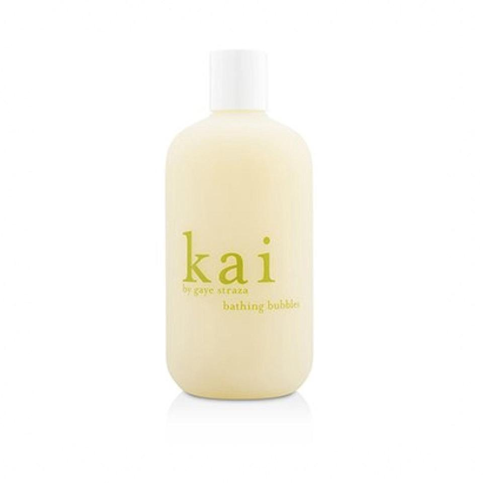 """This foamy blend of hydrating natural oils and a floral gardenia aroma is the definition of bubble bath, but make it grown-up. $29, Kai. <a href=""""https://shop-links.co/1726726478042396292"""" rel=""""nofollow noopener"""" target=""""_blank"""" data-ylk=""""slk:Get it now!"""" class=""""link rapid-noclick-resp"""">Get it now!</a>"""