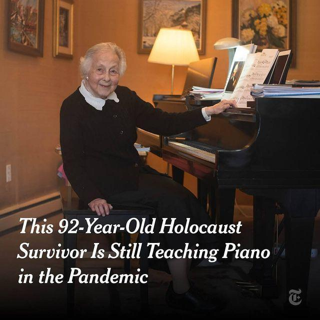 "<p>According to the <a href=""https://www.nytimes.com/2020/05/15/us/virus-piano-lessons.html?"" rel=""nofollow noopener"" target=""_blank"" data-ylk=""slk:New York Times"" class=""link rapid-noclick-resp"">New York Times</a>, a 92-year-old Holocaust survivor Dr Cornelia Vertenstein is continuing to teach piano to students from her home in Denver. The music teacher has been delivering the lessons via FaceTime from her iPad.</p><p>'It helped me know more about my students — what kind of life they have,' Vertenstein told the newspaper. 'It's not much, just one room, but it is illuminating to me because I know where they come from. I know a little bit better who they are.'</p><p><a href=""https://www.instagram.com/p/CAOoukKDaM0/"" rel=""nofollow noopener"" target=""_blank"" data-ylk=""slk:See the original post on Instagram"" class=""link rapid-noclick-resp"">See the original post on Instagram</a></p>"
