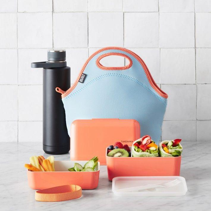 """<p>williams-sonoma.com</p><p><strong>$38.00</strong></p><p><a href=""""https://go.redirectingat.com?id=74968X1596630&url=https%3A%2F%2Fwww.williams-sonoma.com%2Fproducts%2Ftakenaka-bento-box%2F&sref=https%3A%2F%2Fwww.thepioneerwoman.com%2Fhome-lifestyle%2Fdecorating-ideas%2Fg33901854%2Fbest-food-storage-containers%2F"""" rel=""""nofollow noopener"""" target=""""_blank"""" data-ylk=""""slk:Shop Now"""" class=""""link rapid-noclick-resp"""">Shop Now</a></p><p>What lunch doesn't need a pop of color? This peach-y bento set has two tiers and comes with a fork and a band to keep the lid secure in transit. <br></p>"""