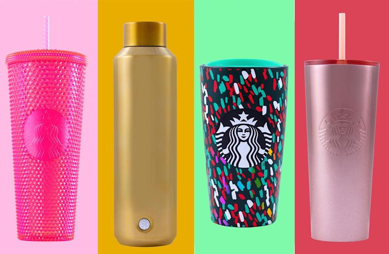 Starbucks' new holiday tumblers are here, and they're oh-so shiny