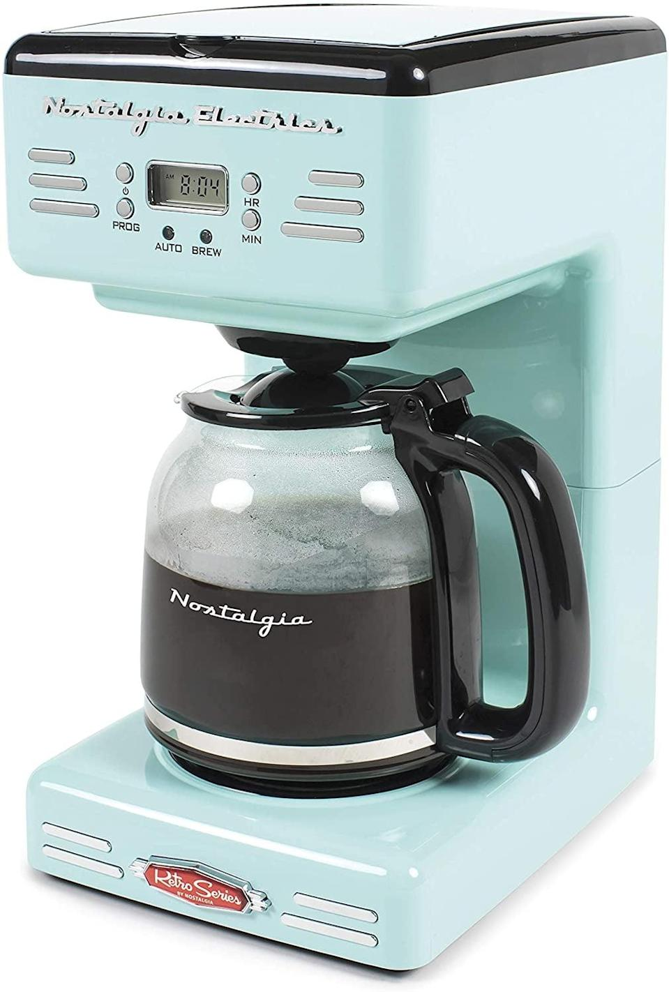 <p>This <span>Retro Coffee Maker</span> ($60) will stand out in their kitchen.</p>