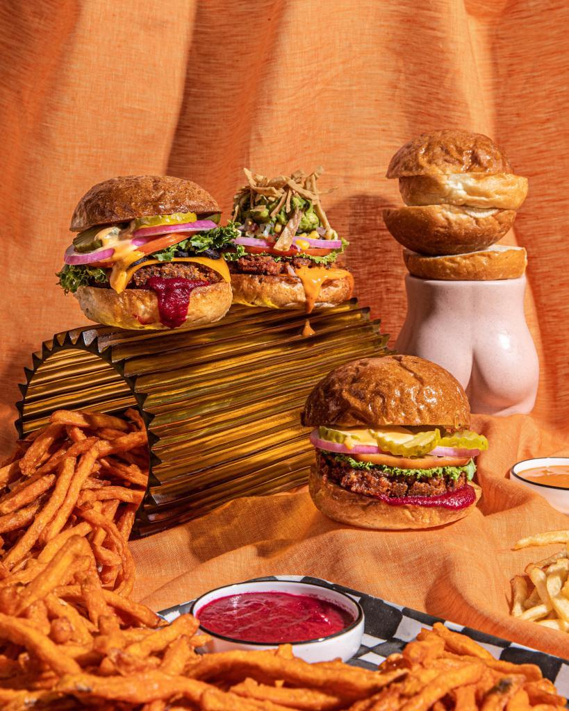 Beatnic offers a plant-based menu of house-made burgers, sandwiches, salads, and baked sweets.