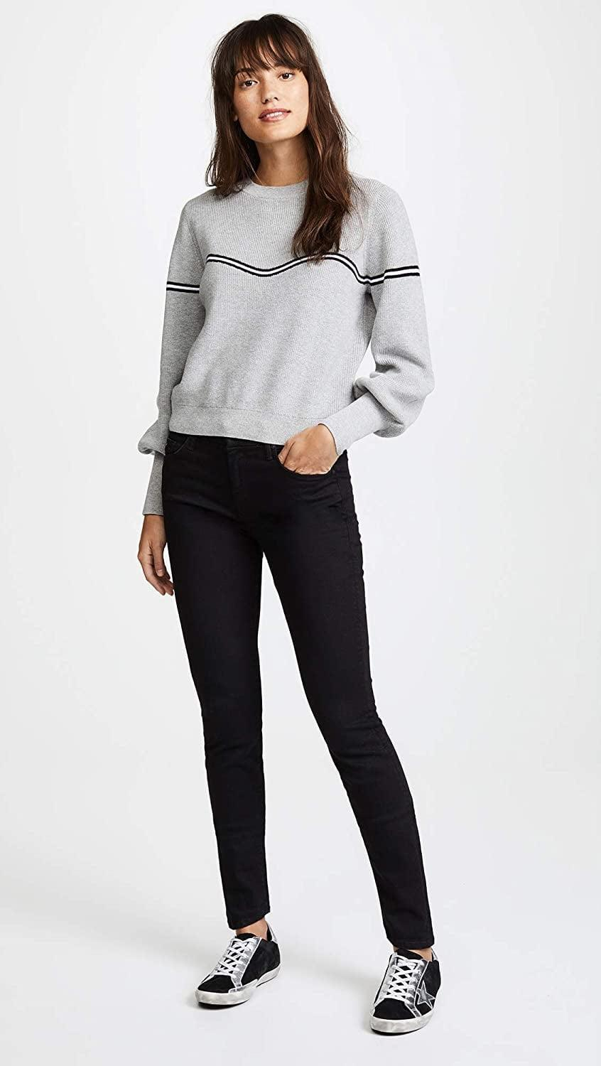 """<p>You can't go wrong with these <a href=""""https://www.popsugar.com/buy/Mother-Women-Looker-Skinny-Jeans-583838?p_name=Mother%20Women%27s%20The%20Looker%20Skinny%20Jeans&retailer=amazon.com&pid=583838&price=147&evar1=fab%3Aus&evar9=47565691&evar98=https%3A%2F%2Fwww.popsugar.com%2Fphoto-gallery%2F47565691%2Fimage%2F47565692%2FMother-Women-Looker-Skinny-Jeans&list1=shopping%2Camazon%2Cdenim%2Csale%2Cget%20the%20look%2Cmeghan%20markle%2Csale%20shopping%2Ccelebrity%20style&prop13=api&pdata=1"""" class=""""link rapid-noclick-resp"""" rel=""""nofollow noopener"""" target=""""_blank"""" data-ylk=""""slk:Mother Women's The Looker Skinny Jeans"""">Mother Women's The Looker Skinny Jeans</a> ($147, originally $196).</p>"""