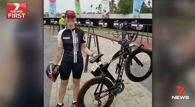 Cyclist Anne-Louise Woon is more accustomed to battling out in the Iron Man. Source: 7 News