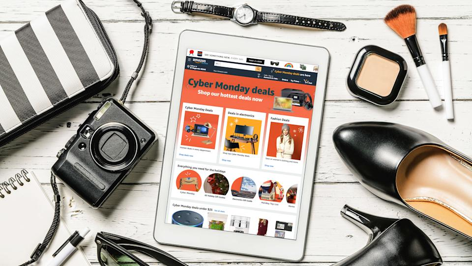 Amazon Cyber Monday Sales and Deals fashion home page