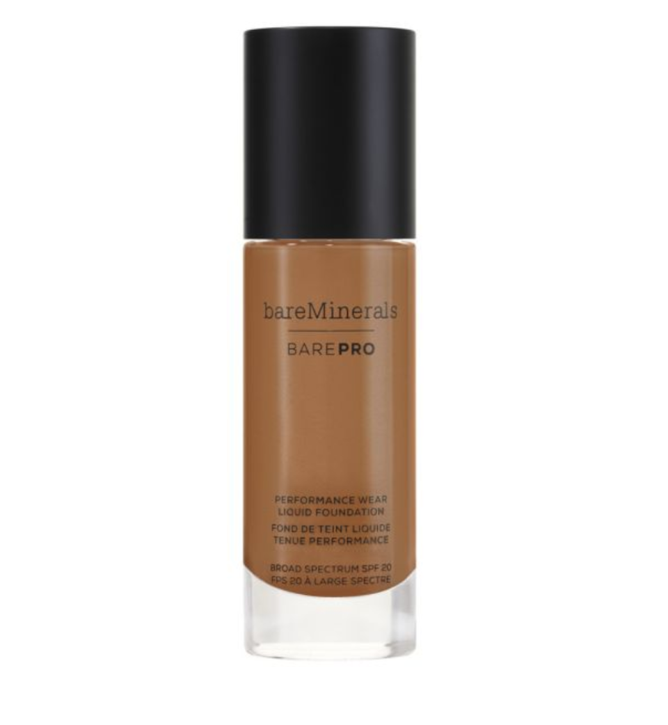 There is a BarePro Performance Wear Liquid Foundation available for many different skin tones. (Photo: bareMinerals)